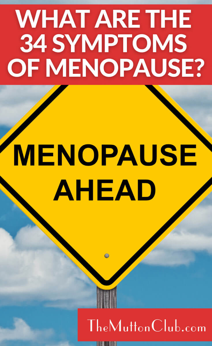 34 symptoms of menopause