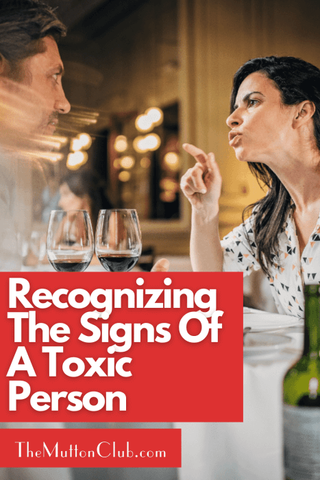 Signs Of A Toxic Person
